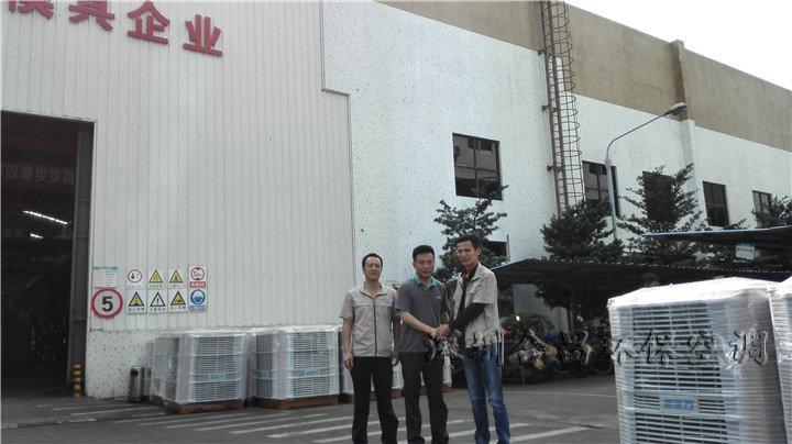 润东方环保空调工程师与科龙模具领导合影